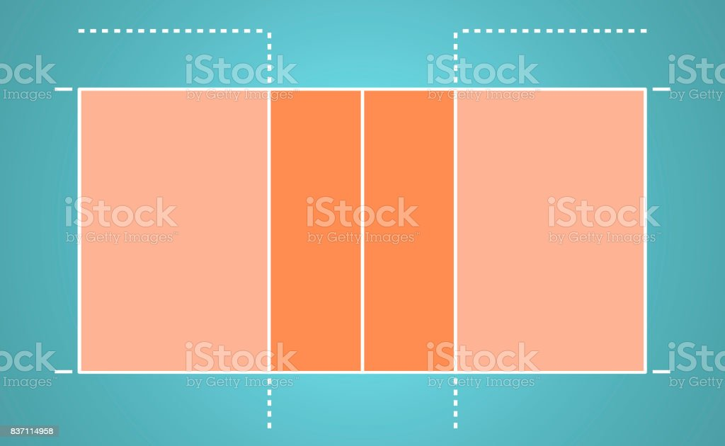 Aerial top view of Volleyball court stock photo
