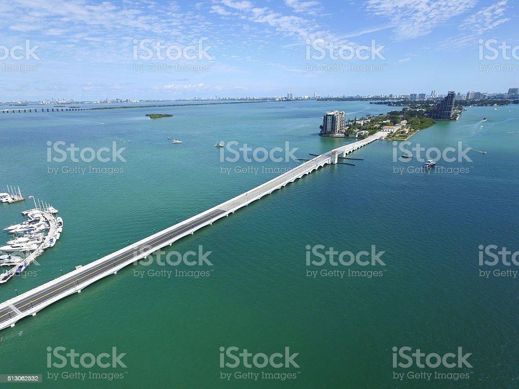 Aerial Venetia nCauseway stock photo