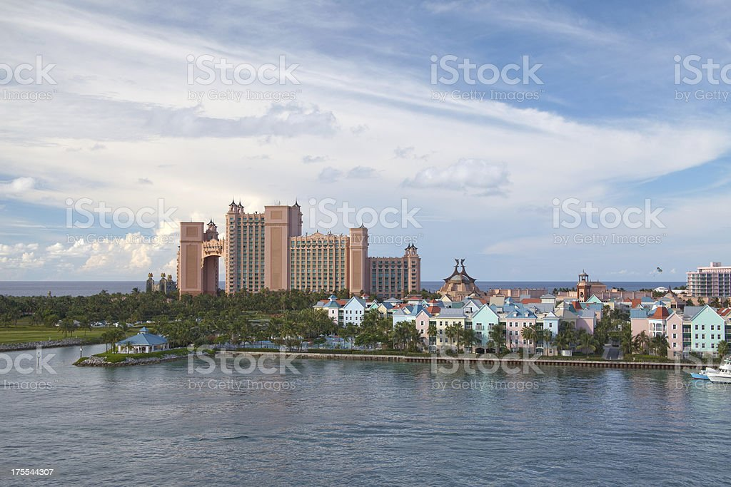 Aerial viev at the Paradise Island stock photo