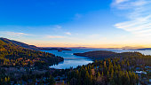 Aerial View Above Teddy Bear Cove Fairhaven Bellingham Bay Washington Overlooking San Juan Islands