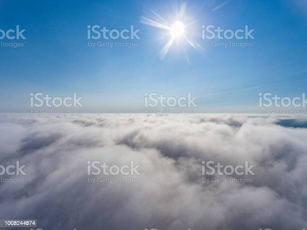 Photo of Aerial view above the clouds