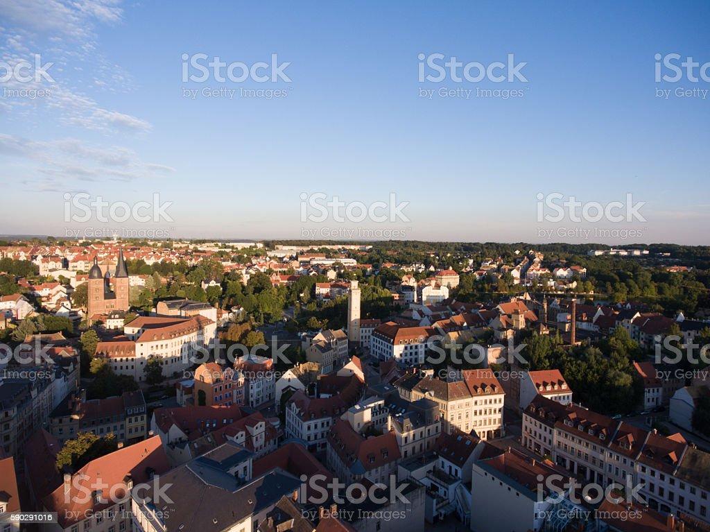 Aerial View Altenburg Thuringia Castle old medieval town Стоковые фото Стоковая фотография