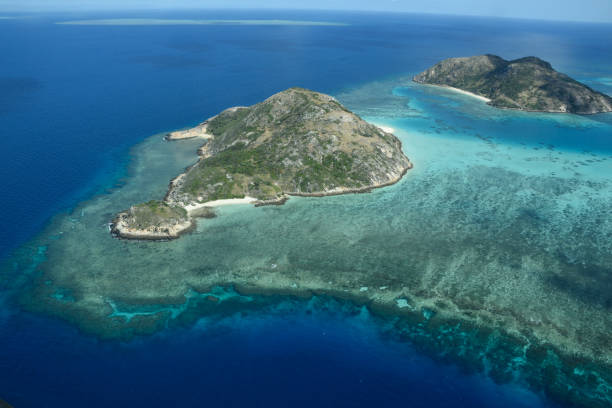 Aerial view around Lizard Island, Great Barrier Reef