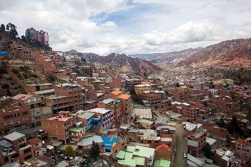 istock Aerial view at La Paz, Bolivia 1153018582
