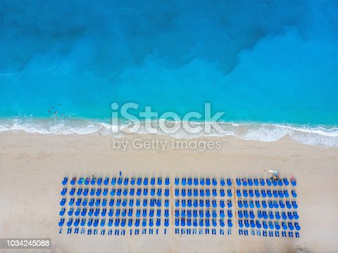 811600544 istock photo Aerial view at the beach. Beautiful natural seascape at the summer time. 1034245088