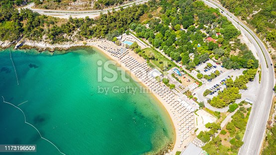 811600544istockphoto Aerial view at the beach. Beautiful natural seascape at the summer time. 1173196509