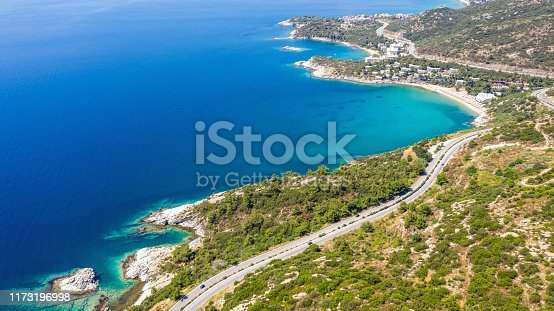 811600544istockphoto Aerial view at the beach. Beautiful natural seascape at the summer time. 1173196998