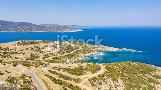 811600544 istock photo Aerial view at the beach. 1202226184