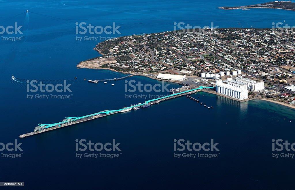 Aerial View Australia Port stock photo