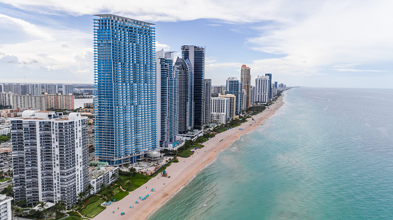 Aerial View Bal Sunny Isles Beach Stock Photo - Download Image Now