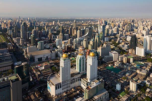 Aerial view Bangkok city downtown圖像檔