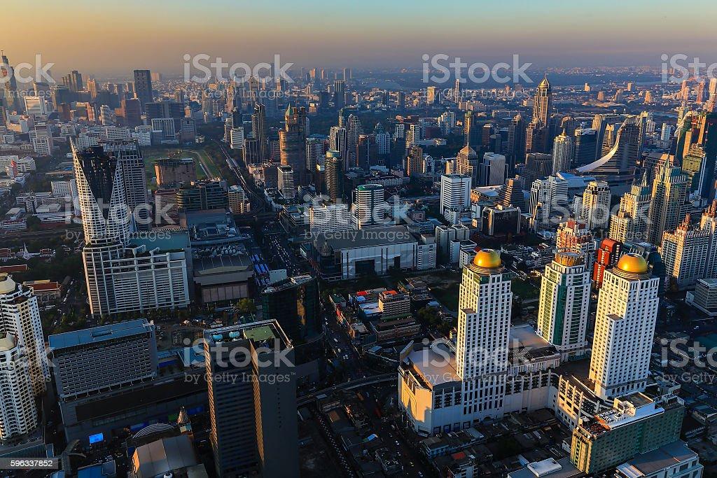 Aerial view Bangkok city royalty-free stock photo