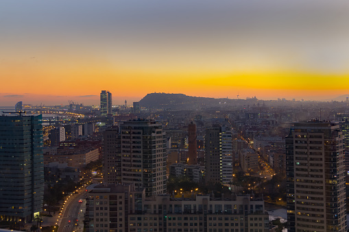 aerial view Barcelona sunset.tif