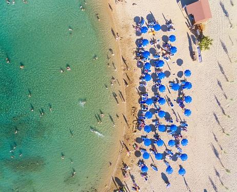 Aerial view beach, Protaras, Cyprus