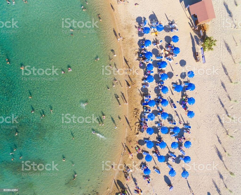 Aerial view beach, Protaras, Cyprus stock photo