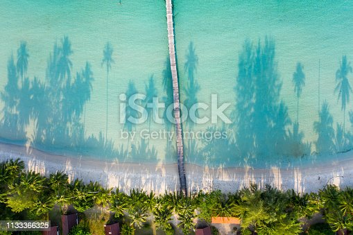 Aerial view. Beautiful tropical beach in island Koh Kood Thailand