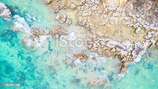 959508862 istock photo Aerial view  Blue sea for background 1150091166