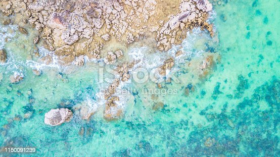 959508862 istock photo Aerial view  Blue sea for background 1150091239