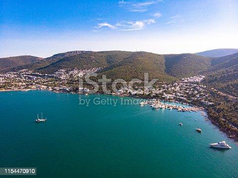Aerial View Bodrum Torba at Turkey