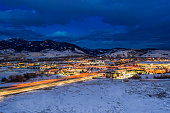 istock Aerial View Bozeman Montana at Night 1203006172
