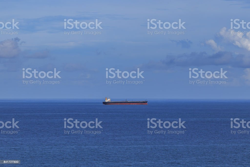 Aerial View Container Ship stock photo