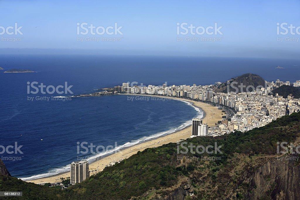 aerial view copacabana beach in rio de janeiro brazil royalty-free stock photo