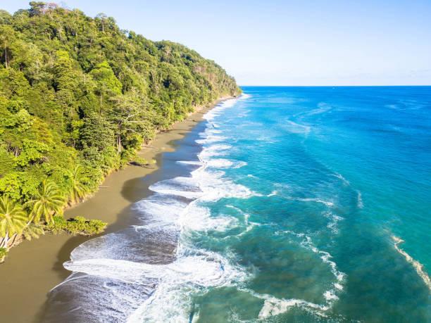Aerial view: Corcovado National Park, Costa Rica stock photo