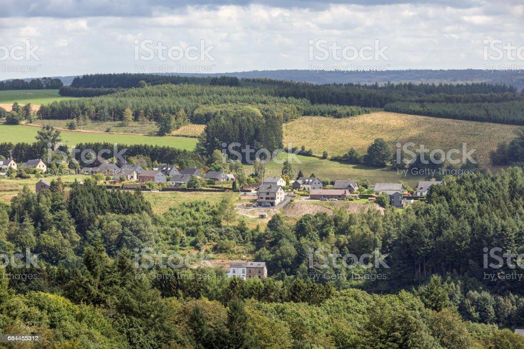 Campagne de vue aérienne près de Bouillon en Belgique - Photo
