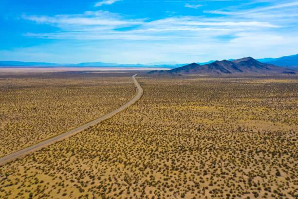 Aerial view, Desert Death Valley stock photo