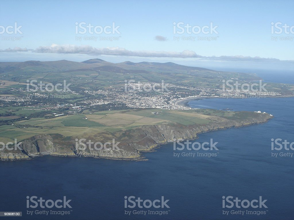 Aerial view Douglas, Isle of Man​​​ foto