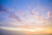 istock Aerial view dramatic sunset and sunrise sky nature background with white clouds 1183953762
