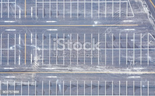 618059920 istock photo Aerial view empty parking lot 903757888