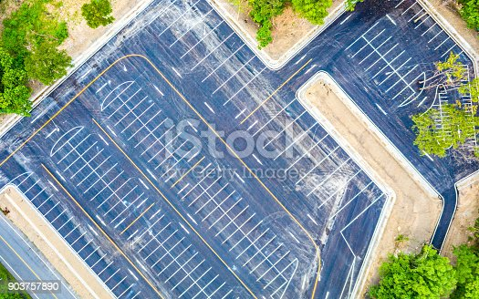 618059920 istock photo Aerial view empty parking lot 903757890