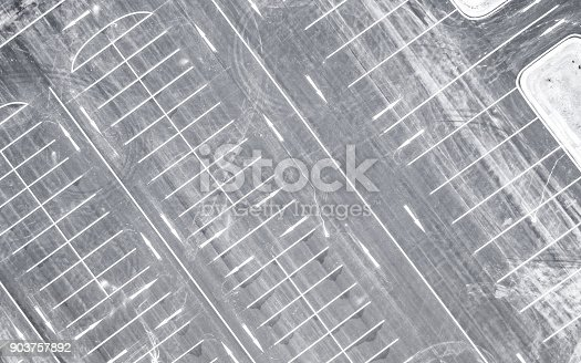 618059920 istock photo Aerial view empty parking lot 903757892