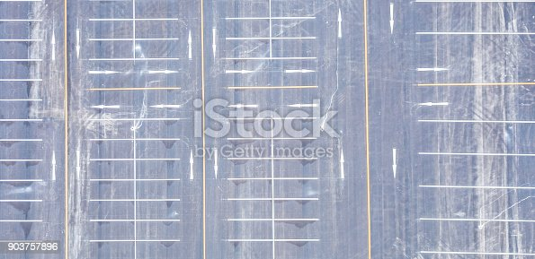 618059920 istock photo Aerial view empty parking lot 903757896