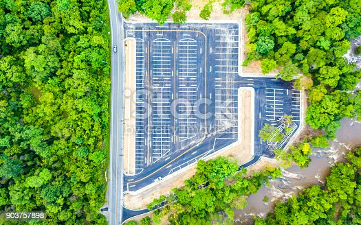 618059920 istock photo Aerial view empty parking lot 903757898