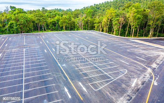 618059920 istock photo Aerial view empty parking lot 903758020