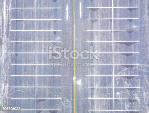 618059920 istock photo Aerial view empty parking lot 903758022