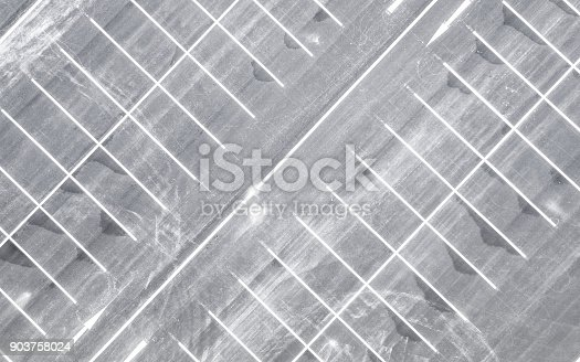 618059920 istock photo Aerial view empty parking lot 903758024