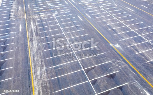 618059920 istock photo Aerial view empty parking lot 903758030