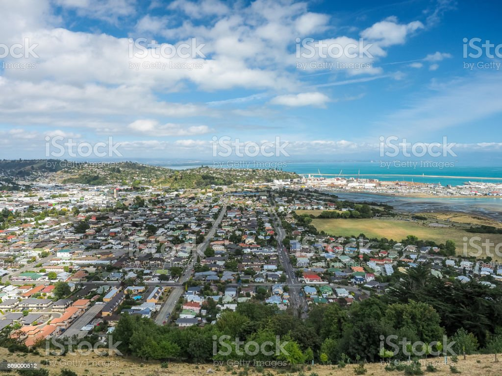 Luftbild Form the Center of New Zealand, Nelson. – Foto