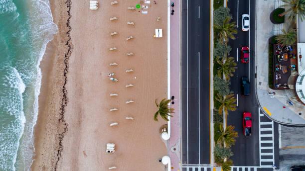 aerial view fort lauderdale beach av - kapverdische inseln stock-fotos und bilder