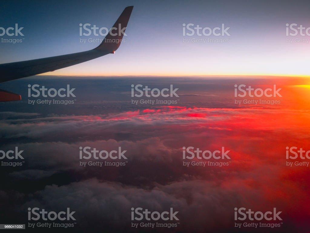 Luftbild aus einem Flugzeugfenster über Neuseeland nach Australien fliegen - Lizenzfrei Australien Stock-Foto
