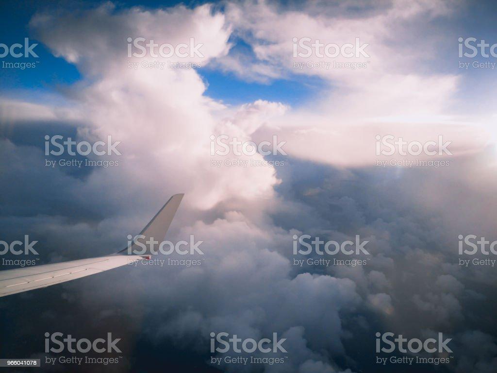 Flygfoto från ett flygplan fönster flyger över nya Zeeland till Australien - Royaltyfri Atmosfär - Evenemang Bildbanksbilder