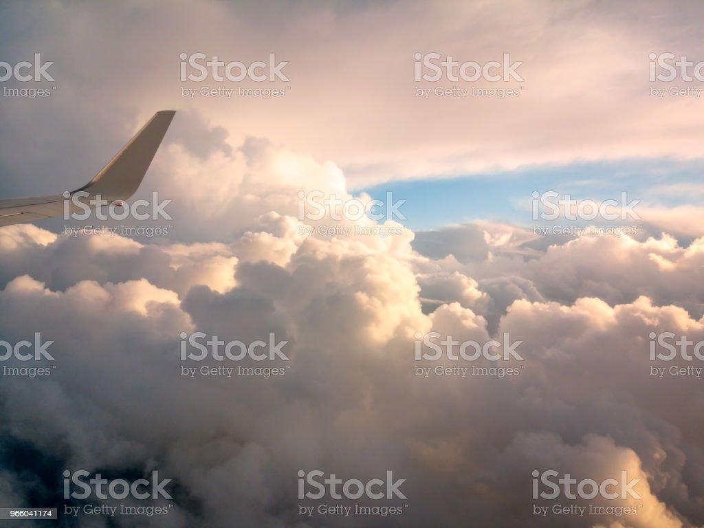 Aerial View from an Airplane Window flying over New Zealand to Australia - Стоковые фото Авиакосмическая промышленность роялти-фри