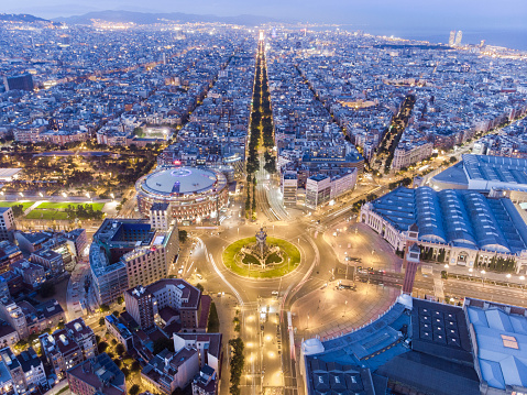 Aerial view from Barcelona, Plaza España
