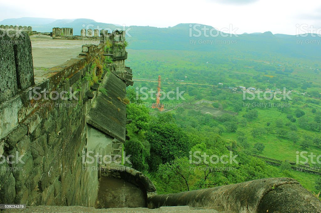 Vista aérea do Daultabad fort foto royalty-free