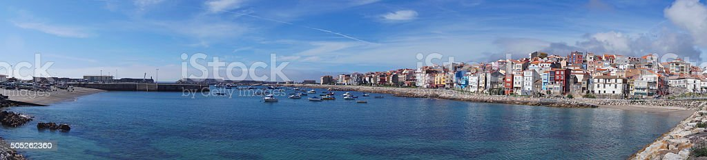 Aerial view from La Guardia in Galiza Spain stock photo