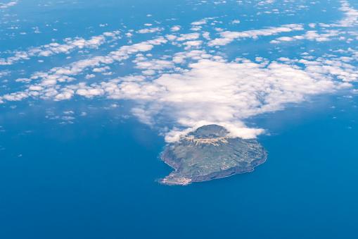istock Aerial view from plane Corvo Island Portugal Atlantic Ocean 825796470