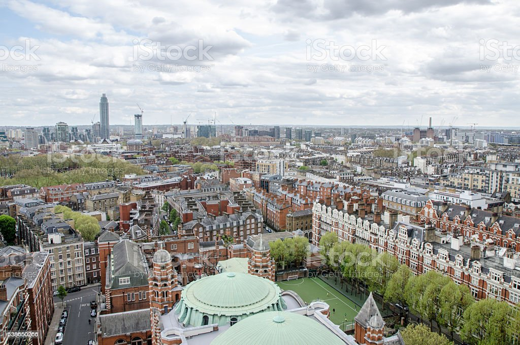 Aerial View from Westminster Cathedral tower stock photo